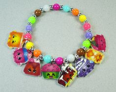 Shopkins Charm Bracelet Shopkins Jewelry by ChildishAntics on Etsy