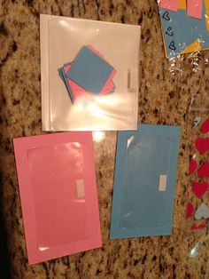 Toddler busy bags - color sorting (Stampin' Up envelopes)