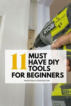 I've put together a list of my favourite DIY tools for beginners that I love to have handy whenever I am considering tackling a DIY project. #diytools #diy #beginnerdiytools Diy Projects On A Budget, Diy Furniture Projects, Woodworking Tutorials, Craft Tutorials, Cool Tools, Diy Tools, Using A Paint Sprayer, Colorful Playroom, Diy Tutorial