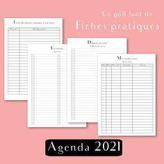 recharge papier agenda 2021 français daté par Shirley Chiche. Agenda complet, minimaliste et inspirant !