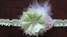"""Pearls n' Pink boutique  """"Tinkerbell headband"""" for Halloween.  Message me if you have a special request."""
