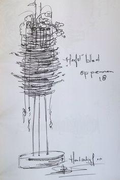 Sketch:Paul Boerrigter Arte Floral, Gregor Lersch, Modern Flower Arrangements, Design Theory, Mechanical Design, Ikebana, Art Techniques, Designs To Draw, Flower Designs