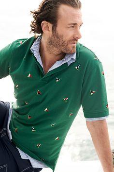 Sailing Flag Embroidered Polo Shirt & Seersucker Shirt  | Lands' End