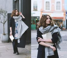 Get this look: http://lb.nu/look/8009538  More looks by Denisia  A.: http://lb.nu/denisia  Items in this look:  Zara Long Wool Coat, Zara Grey Blanket Scarf, Closet London Floral Dress, Vintage White Clutch   #casual #street #vintage #staywarmlb #zara #coat #longcoat #maxi #clutch