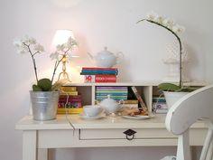 chá na escrivaninha