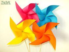 Szélforgó készítés - Manó kuckó Origami, Techno, Diy And Crafts, Home Decor, Creative Ideas, Child, Google, Homemade Home Decor, Kid