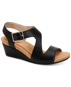 2bccb43c598dd Giani Bernini Belinaa Memory Foam Wedge Sandals, Created for Macy's - Black  5M