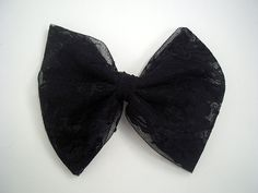 Lace hair bow alligator clip french by LovelyYouAccessories, $5.00