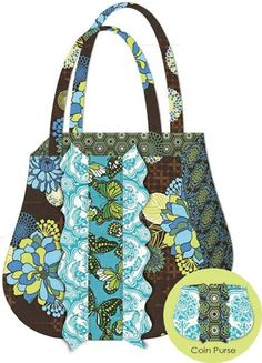 Ruffle Tote & Coin Purse - This sassy Ruffle Tote & Coin Purse are simple to make using Josephine's detailed diagrams and easy-to-read instructions… Free Purse Pattern
