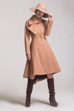 wool jacketIrregular dovetail wool coat cashmere fur by dongli