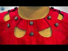 Kurti Neck Design using buttons | Latest Neck Designs for Kameez| BST - YouTube
