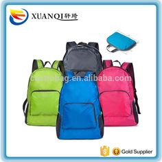 3a11df442fff yiwu wholesale waterproof polyester nylon travel portable foldable backpack
