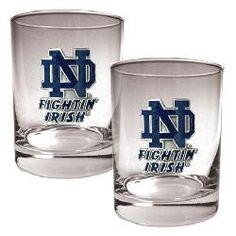 Notre Dame Fighting Irish Rock Glass Set of Two
