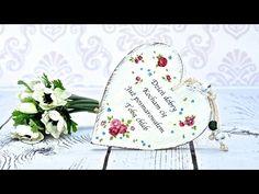 Decoupage serce na walentynki - DIY tutorial - YouTube