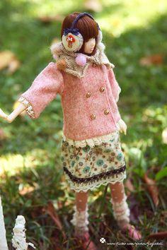 jiajiadoll-hand knitting-cream little bird layered cardigan fits Momoko Or Blythe Or Misaki - etsy.com