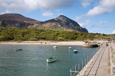 Trefor on the Lleyn Peninsula with Yr Eifl behind....peaceful bliss!