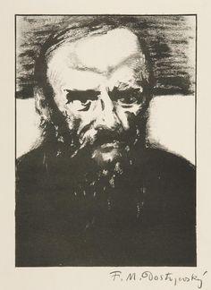 Emil Filla (Czech, 1882–1953) Fyodor M. Dostoyevsky,1908 litography