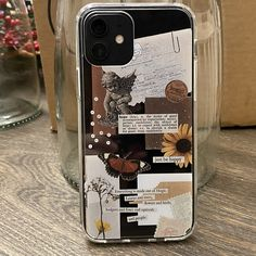 Girly Phone Cases, Pretty Iphone Cases, Diy Phone Case, Iphone Phone Cases, Diy Coque, Vintage Phone Case, Tumblr Phone Case, Accessoires Iphone, Aesthetic Phone Case