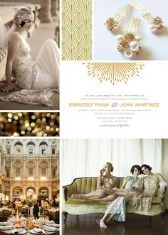 "Great Gatsby Wedding Inspiration - love the last line ""and merriment to follow""!"