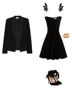 """""""Women in black with a little gold touch"""" by coolmode on Polyvore featuring mode, Gianvito Rossi, American Vintage, Kenneth Jay Lane et Marni"""