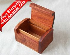Material: Rosewood  - Color: Light Red/dark red  - Size: as description in photos   (Handcrafts have slight size deviation)    This is a very decent and practical Rosewood Storage box. It comes with Various beautiful wood textures and a natural wood Aroma! Its perfect to store jewelry and little stuff.    Features of Burma Rosewood : Hard Material with high density, even and fine structure, clear wood textures, reddish color, some parts with obvious beautiful chained tiger strips patter...