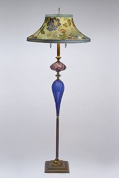 Stanley by Susan Kinzig and Caryn Kinzig: Mixed-Media Floor Lamp available at www.artfulhome.com