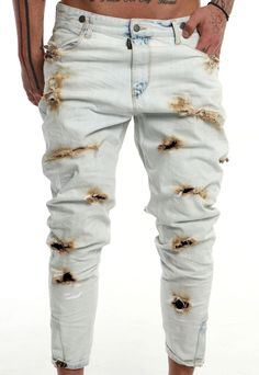 burned out jeans  #handmade #man #denim #vagrancylifestyle