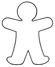 photograph regarding Person Outline Printable identified as define human body template -
