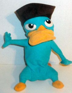 """DISNEY PHINEAS AND FERB PERRY THE PLATYPUS AGENT P REVERSIBLE 12"""" PLUSH DOLL TOY #Disney"""