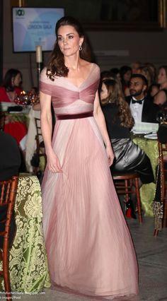 c1e8de3eebc9 Duchess Kate: Duchess Kate in Sweeping Gucci Gown for 100 Women in Finance Gala  Duchess