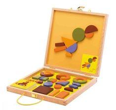 Amazon.com: Djeco / Geo Savanne Magnetic Wooden Shapes Set: Toys & Games