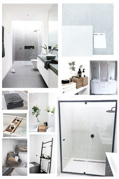 BATHROOM MOOD BOARD #bathroom #mjhbuild