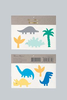 Description These cute tattoos from Meri Meri come with a Dino, Jurassic theme. Pack contains 2 sheets of temporary tattoos.Sheet size: 5 x 5 inches. Dinosaur Party Games, Dinosaur Party Decorations, Dinosaur Party Supplies, Cute Dinosaur, Funky Tattoos, Tattoos For Kids, Sweet Party, Large Temporary Tattoos, Large Tattoos