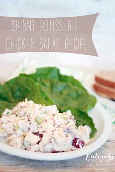 Low Calorie chicken salad recipe. I am making this for sure! <3 www.entirelyeventfulday.com