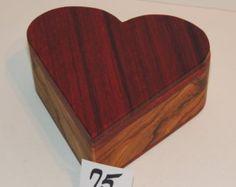 Walnut Heart Shaped Wood Box