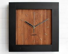 Wall Clock Minimalist Clock Square Clock Maze Decor   Etsy