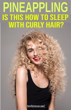 How Pineappling Stops You From Sabotaging Your Curly Hair Overnight – hair Long Hair Tips, Curly Hair Tips, Curly Hair Care, Long Curly Hair, Curly Hair Styles, Curly Hair White Girl, Curly Hair Overnight, Overnight Hairstyles, Overnight Braids