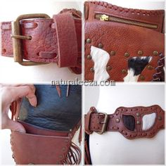 Leather hippie side bag #naturaleeza #fashion #bag