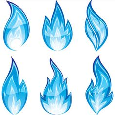 Each has their own meaning, but Cinderheart has the top right blue flame tattooed onto his right palm. It's his focus for his immolator abilities. Drawing Flames, Fire Drawing, Blue Flame Tattoo, Flame Art, Fire Tattoo, Blue Flames, Blue Exorcist, Silhouette Vector, Dungeons And Dragons