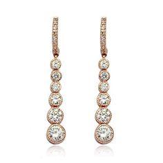 shining drop earrings