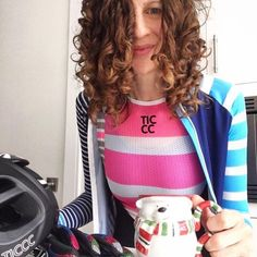Stripes and curls is how we roll! @doreendp""