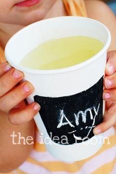 Chalk board cups