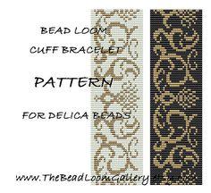 Bead Loom Cuff Bracelet Pattern Vol.23 - PDF File PATTERN via Etsy
