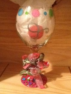 Hand Painted Wine Glass with Personalized by brandiedmonds on Etsy, $20.00