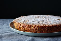 Pecan-Crusted Oat Flour Genoise: This is a riff on a splendid recipe from Flavor Flours (Artisan 2014) by Alice Medrich.