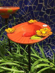 Aqua with Orange flower