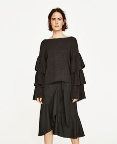 ZARA - WOMAN - SOFT SWEATER WITH FRILLED SLEEVES
