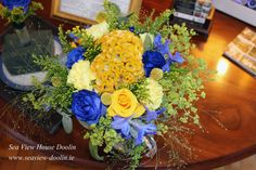Yellow and Blue mixed Bouquet