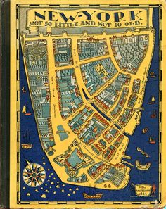 Sarah M. Lockwood, New York: not so little and not so old (1926) - Illustrations by Ilonka Karasz