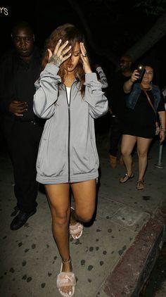 Rihanna street style fashion outfit candid 2016 badgalriri puma